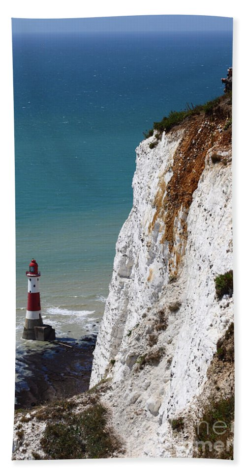 England Hand Towel featuring the photograph Visiting Beachy Head by James Brunker