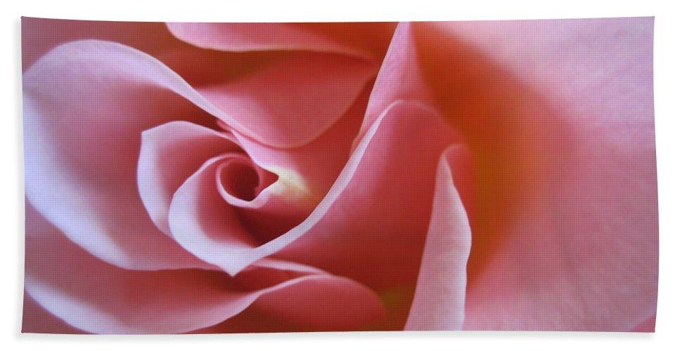 Floral Hand Towel featuring the photograph Vivacious Pink Rose 2 by Tara Shalton