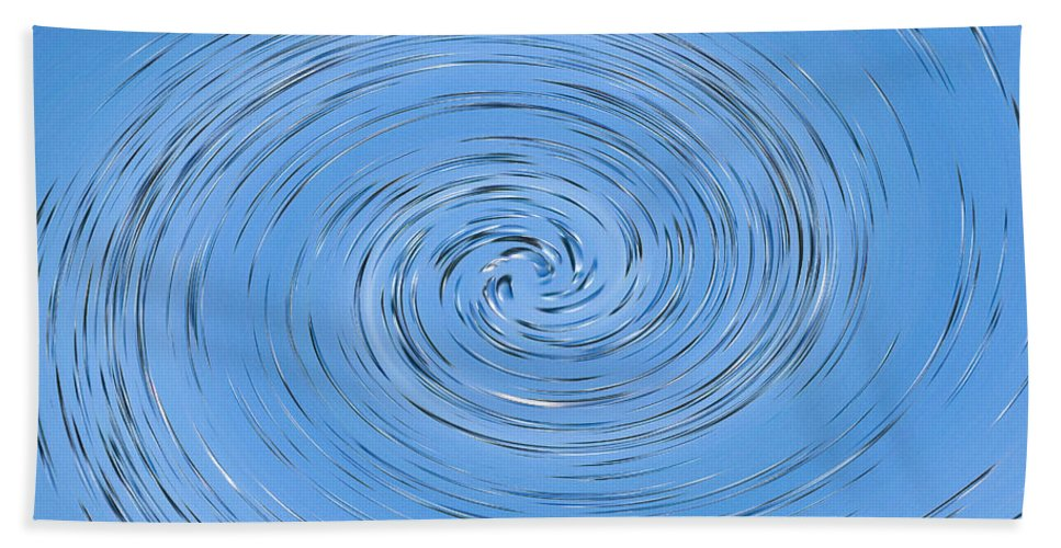 Water Hand Towel featuring the digital art Vortex by David Pyatt