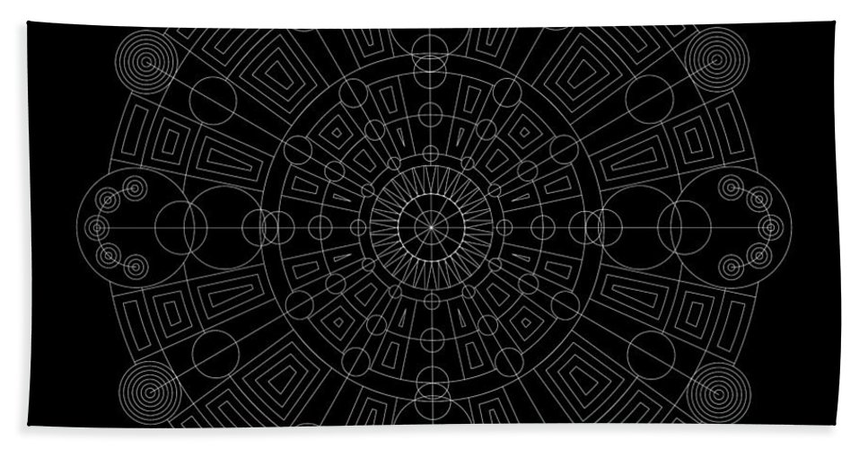 Relief Hand Towel featuring the digital art Vortex Inverse by DB Artist