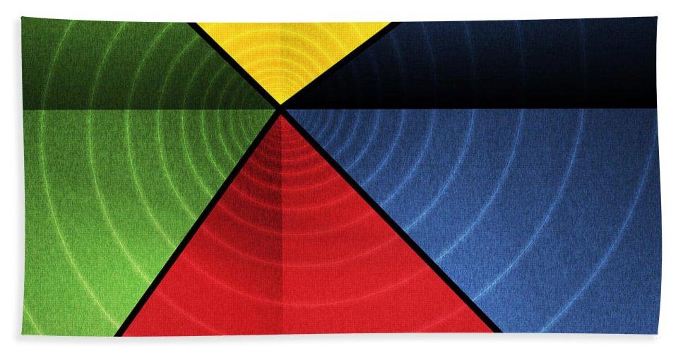Abstract Bath Sheet featuring the digital art Vortex by James Kramer