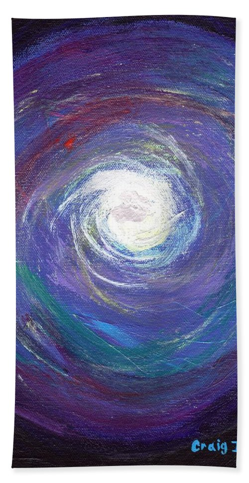 Cosmic Hand Towel featuring the painting Vortex Of Love by Craig Imig