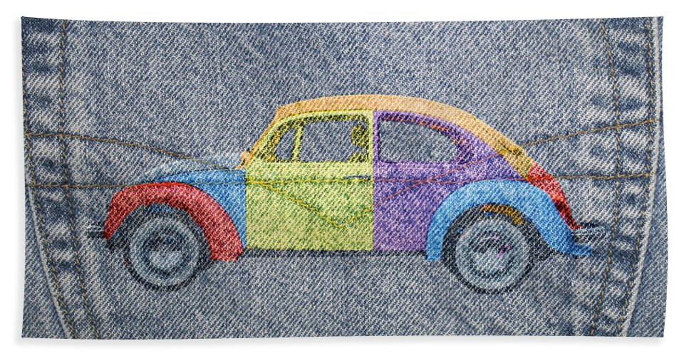 Volkswagen Hand Towel featuring the photograph Vw Beetle by David Ridley