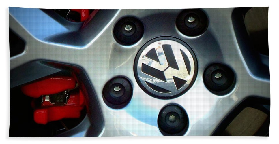 Joseph Skompski Hand Towel featuring the photograph Vw Gti Wheel by Joseph Skompski