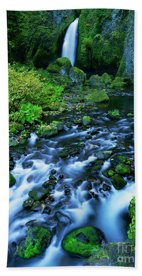North America Bath Sheet featuring the photograph Wachlella Falls Columbia River Gorge National Scenic Area Oregon by Dave Welling