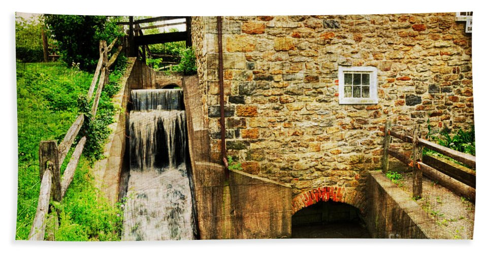 Mill Bath Sheet featuring the photograph Wagner Grist Mill by Paul Ward