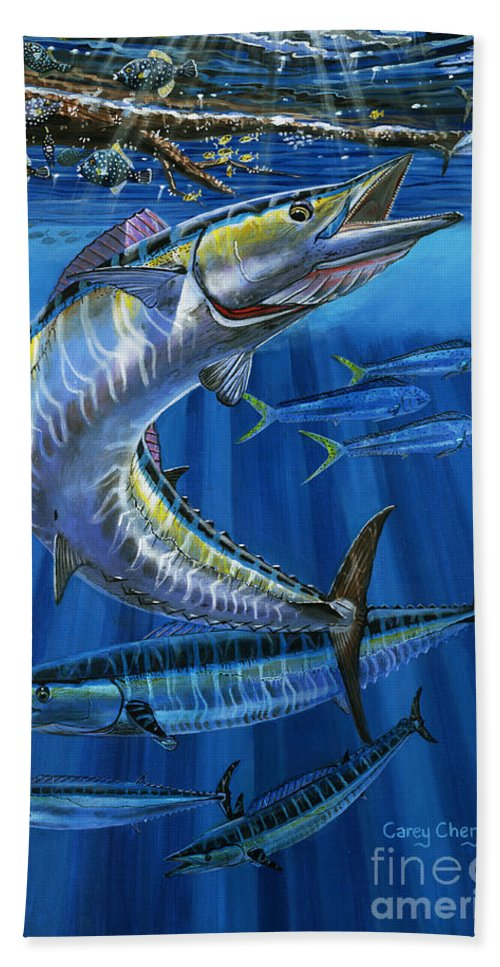 Wahoo Bath Towel featuring the painting Wahoo Rip Off0047 by Carey Chen