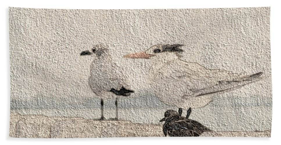 Birds Bath Sheet featuring the photograph Waiting For Spring by Donna Brown