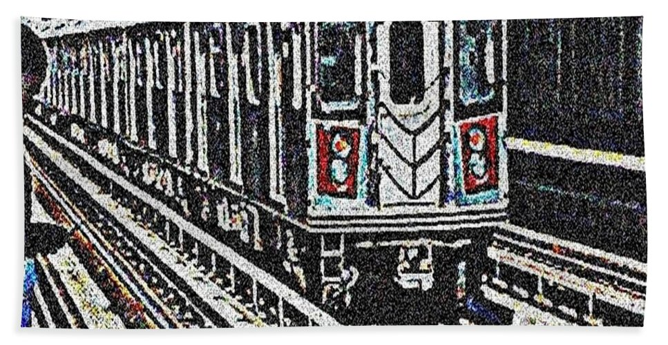 Subway Hand Towel featuring the photograph Waiting For The Sardine Can by Paulo Guimaraes