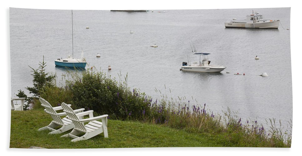 Boat Hand Towel featuring the photograph Waiting For Two by Jean Macaluso