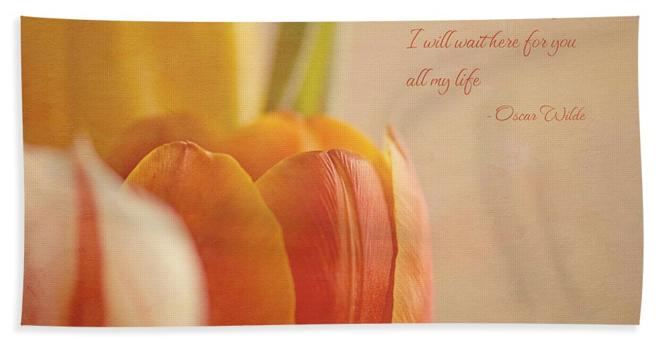 Tulips Hand Towel featuring the photograph Waiting For You by Lisa Knechtel