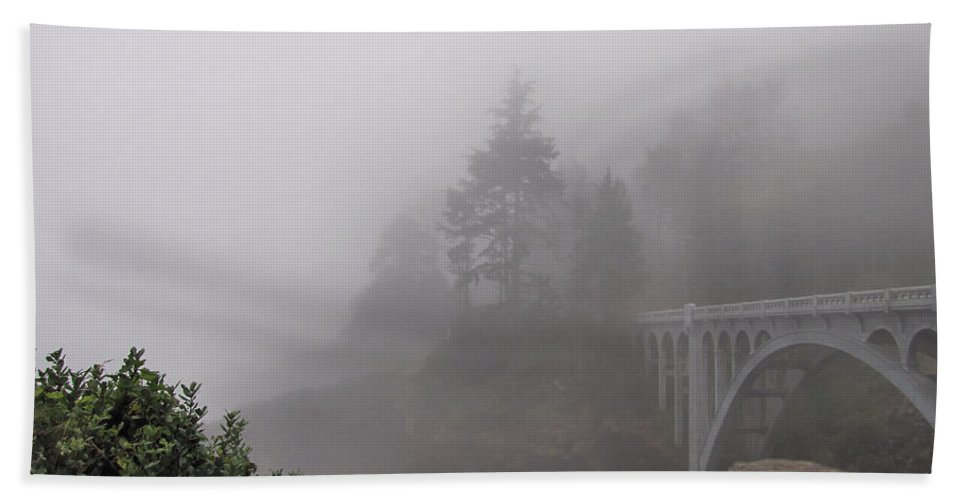 Fog Bath Sheet featuring the photograph Waiting by Katie Wing Vigil