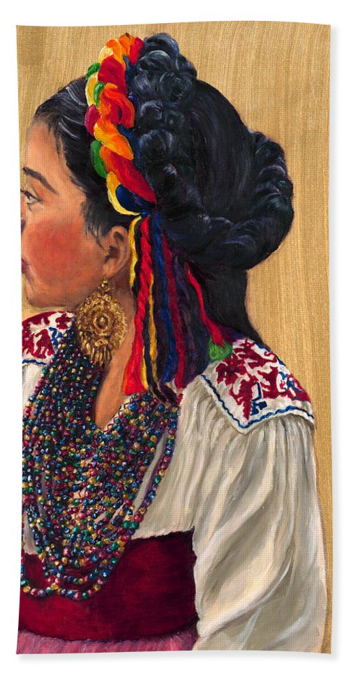 Young Girl Hand Towel featuring the painting Waiting To Dance by Maria Gibbs