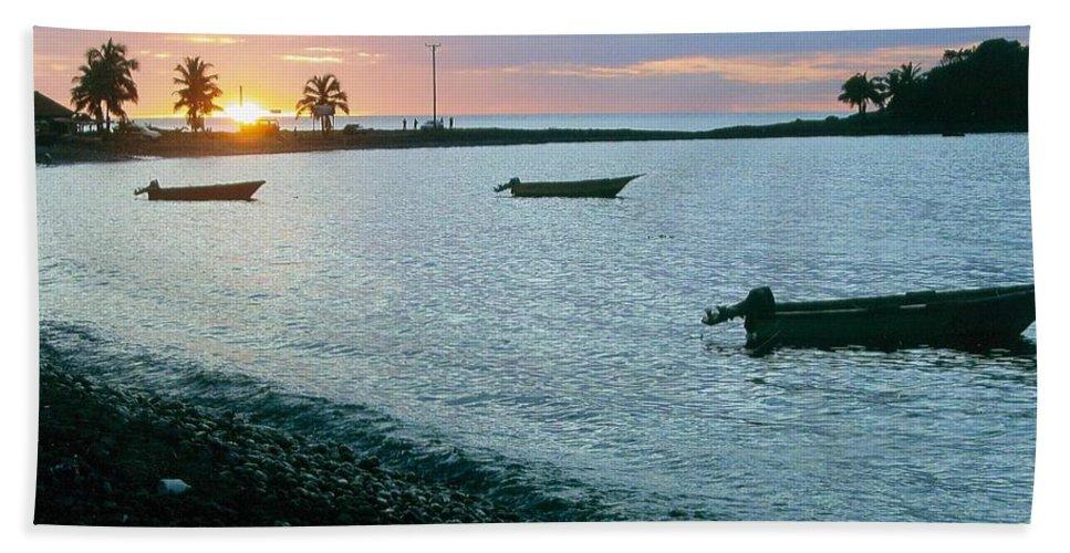 Waitukubuli Bath Sheet featuring the photograph Waitukubuli Sunset by Robert Nickologianis