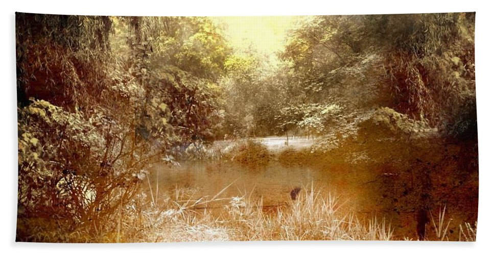 Walden Ponds Bath Sheet featuring the mixed media Walden Pond In Pennsylvania by Femina Photo Art By Maggie