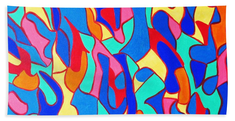 Eunice Broderick Hand Towel featuring the painting Walk In Israel by Eunice Broderick