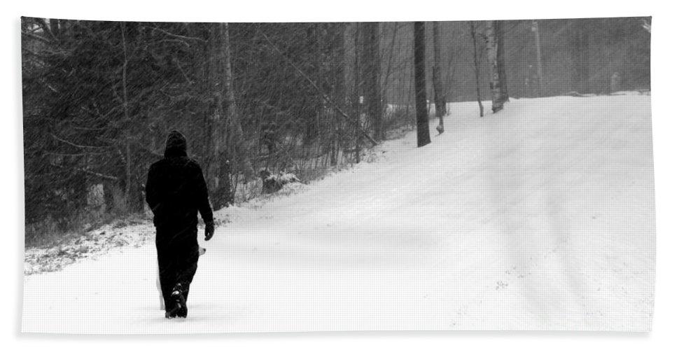 Walking In A Winter Wonderland Bath Sheet featuring the photograph Walking In A Winter Wonderland by Patti Whitten