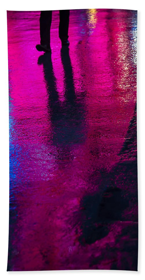 Rain Bath Sheet featuring the photograph Walking In The Rain by Garry Gay