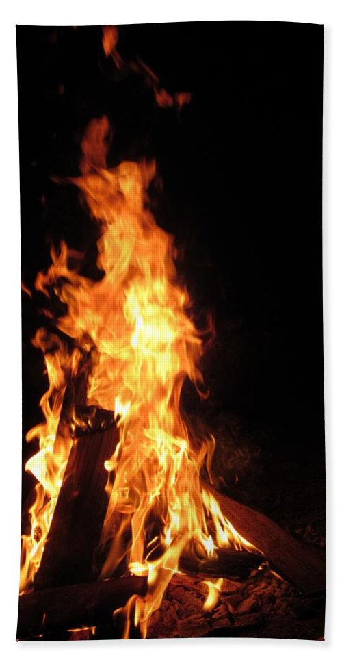 Campfire Hand Towel featuring the photograph Walking With A Walking Stock by Jo Jurkiewicz