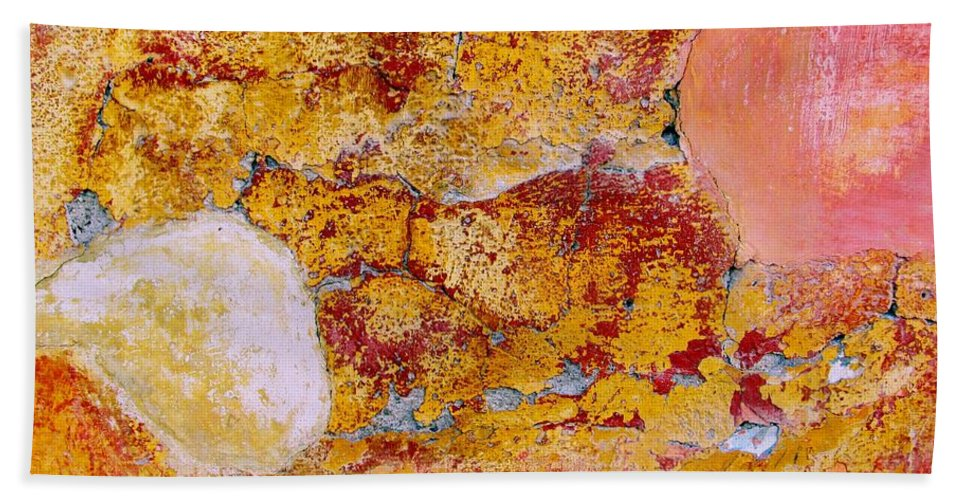 Texture Bath Sheet featuring the digital art Wall Abstract 3 by Maria Huntley