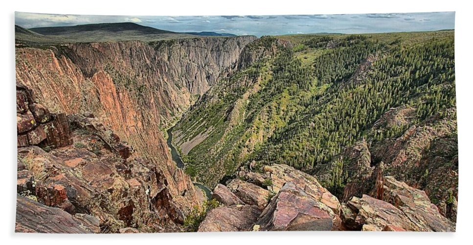 Black Canyon Hand Towel featuring the photograph Walls Of The Black Canyon by Adam Jewell
