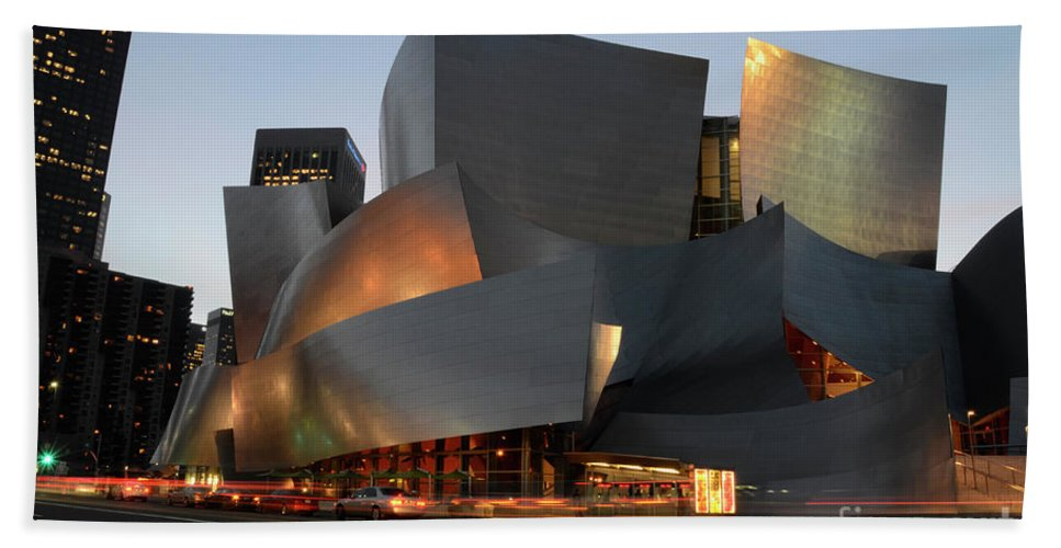 Bob Hand Towel featuring the photograph Walt Disney Concert Hall 21 by Bob Christopher
