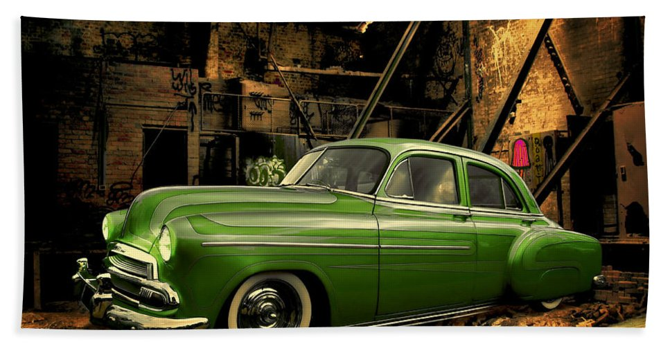 Car Hand Towel featuring the photograph Warehouse Gem by Steven Agius