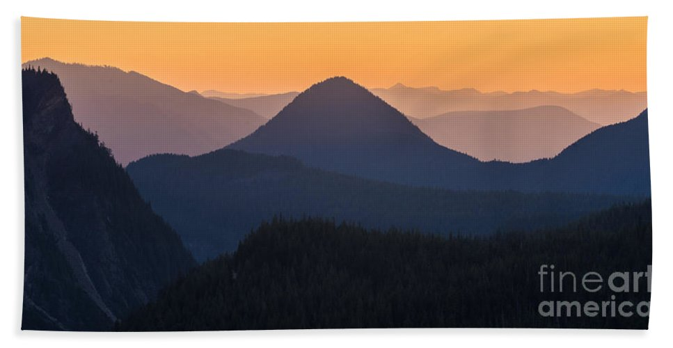 Rainier Bath Sheet featuring the photograph Warm Mountain Layers by Mike Reid