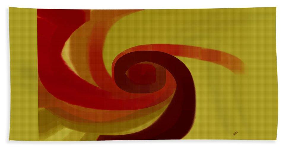 Geometric Hand Towel featuring the digital art Warm Swirl by Ben and Raisa Gertsberg