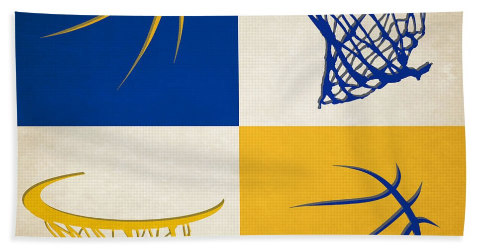Warriors Bath Towel featuring the photograph Warriors Ball And Hoop by Joe Hamilton