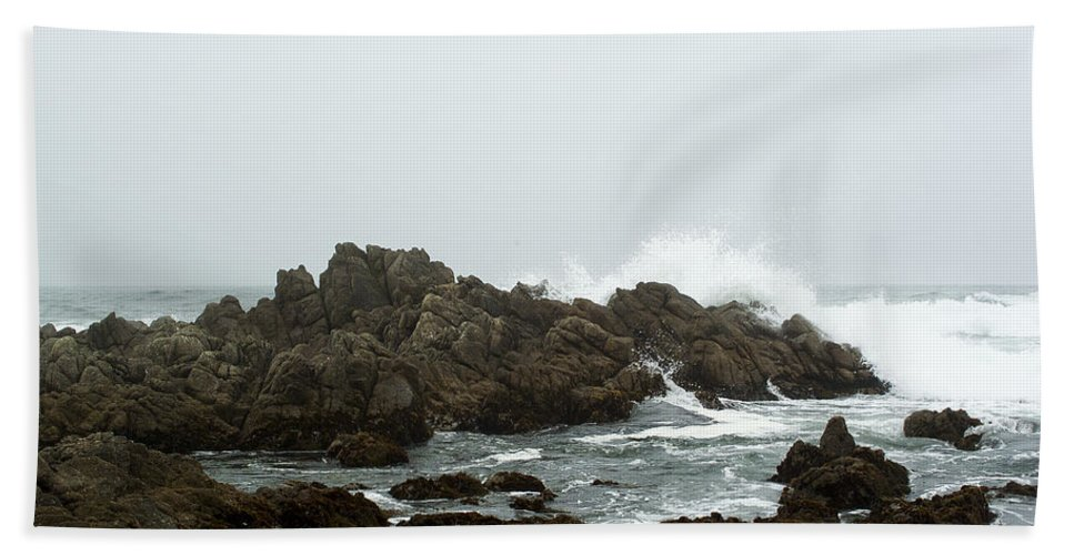 Monterey California Hand Towel featuring the photograph Washed Ashore by Robert Mollett