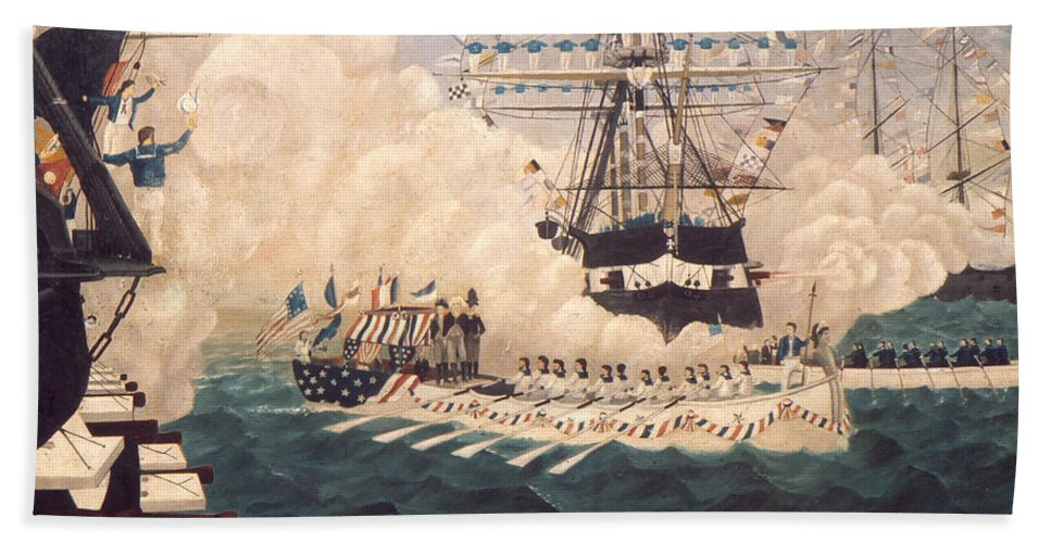 1780s Hand Towel featuring the photograph Washington In New York by Granger