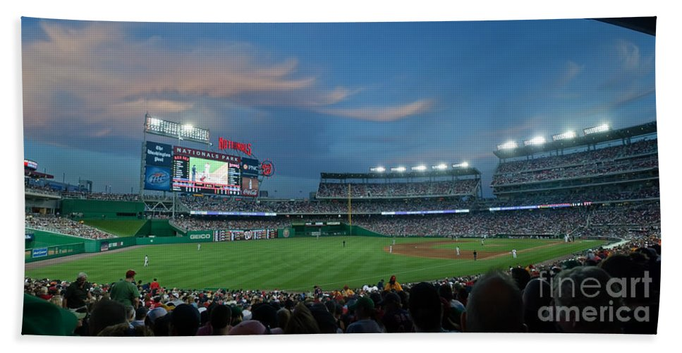 Red Sox Bath Towel featuring the photograph Washington Nationals In Our Nations Capitol by Thomas Marchessault