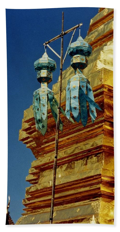 Temple Bath Sheet featuring the photograph Wat Phrathat Doi Suthep by David Coleman