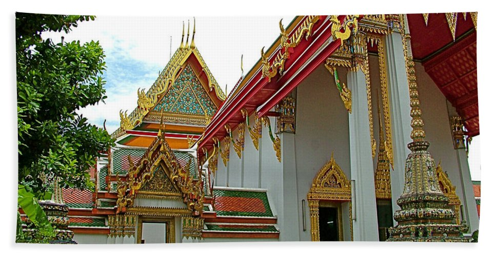 Wat Po In Bangkok Hand Towel featuring the photograph Wat Po In Bangkok-thailand by Ruth Hager