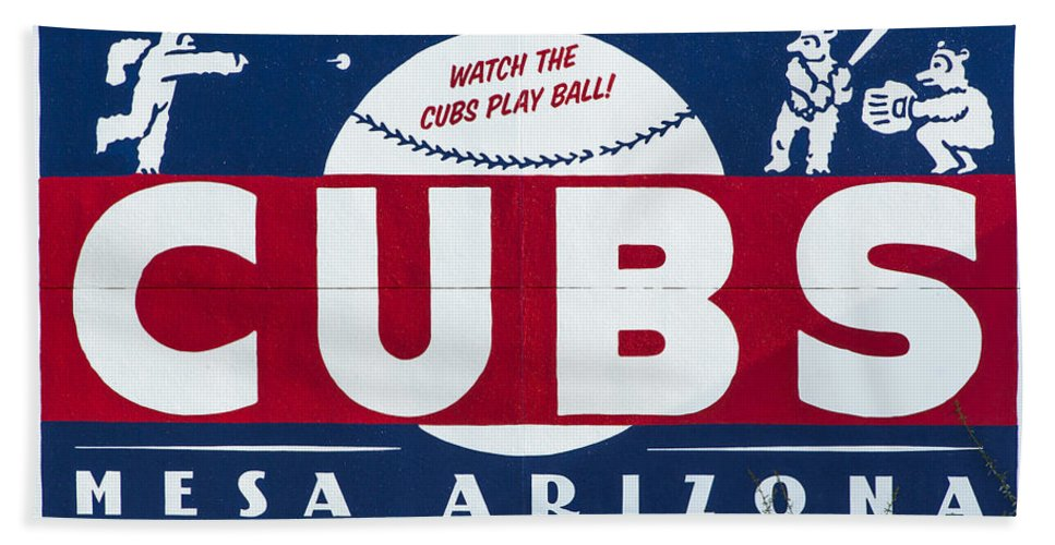Cubs Bath Sheet featuring the photograph Watch The Cubs by Stephen Stookey