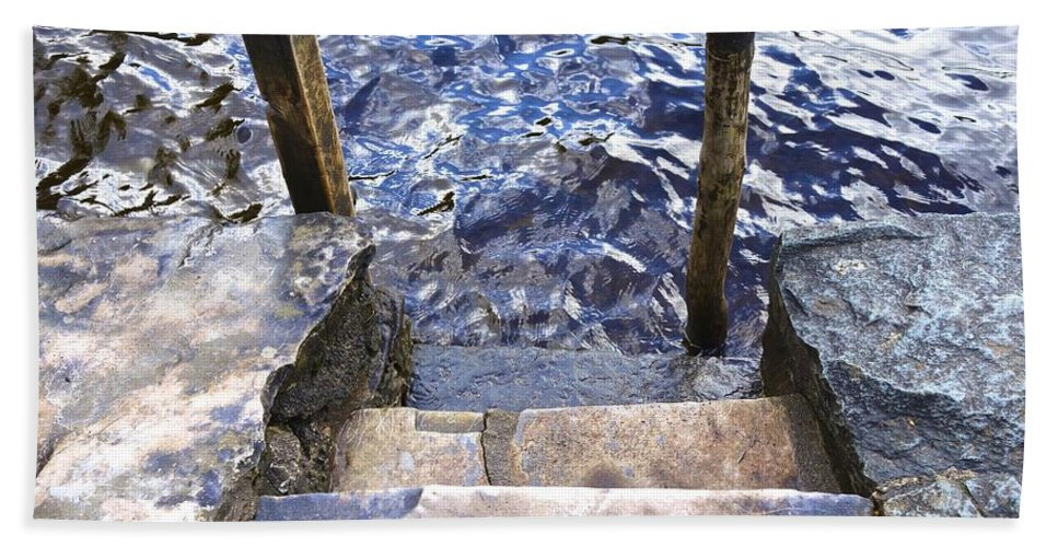 Muckross Castle Bath Sheet featuring the photograph Watch Your Step by Charlie Brock