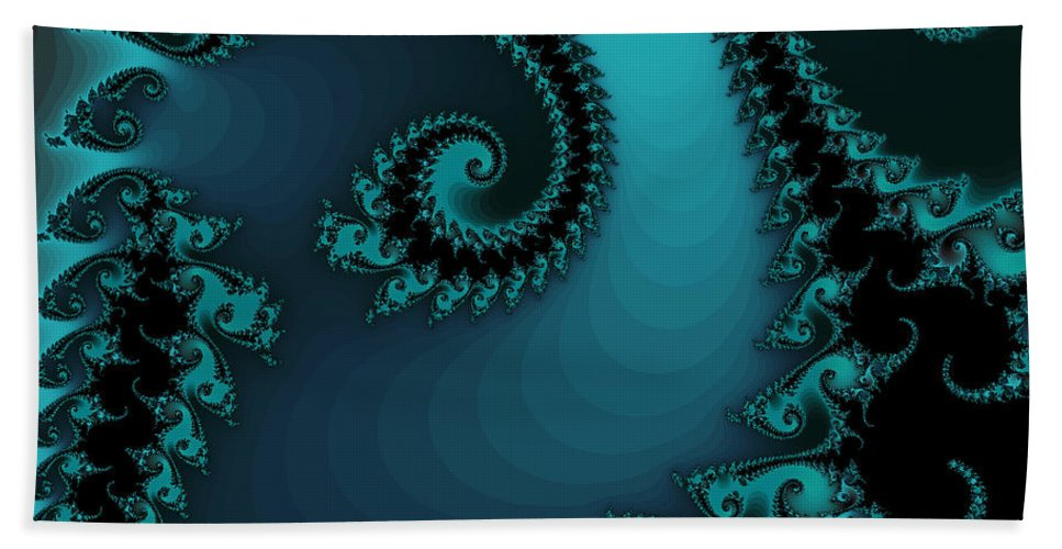Fractal Art Hand Towel featuring the digital art Watchers On The Chalcedony Slide by Elizabeth McTaggart