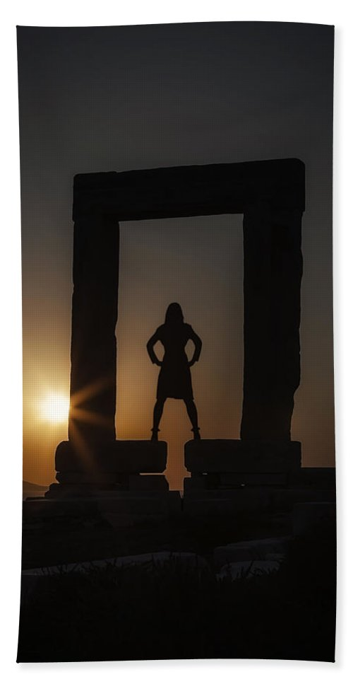 Girl Hand Towel featuring the photograph Watching Sunset by Joana Kruse