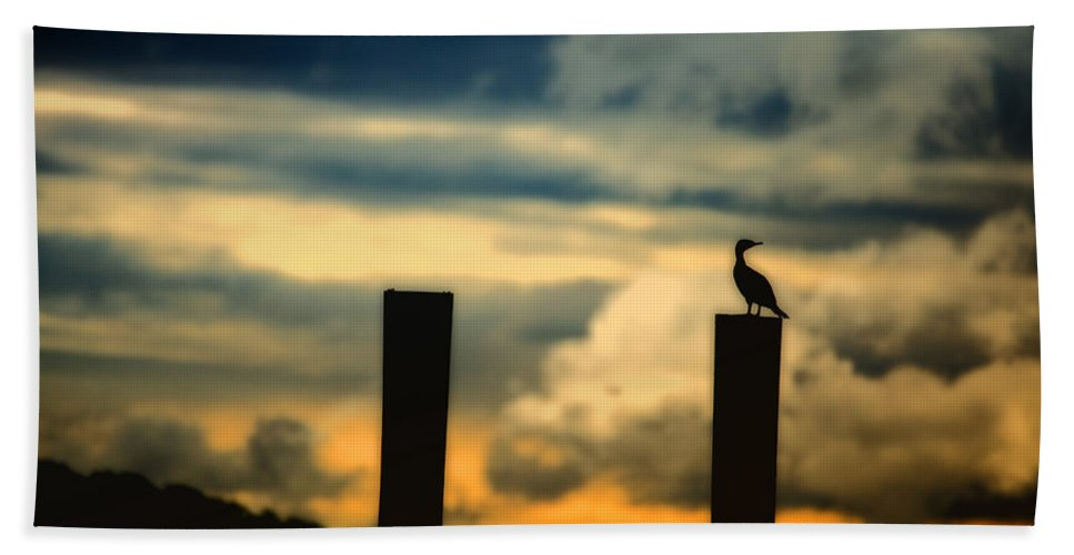 Landscape Bath Sheet featuring the photograph Watching The Sunrise by Karol Livote
