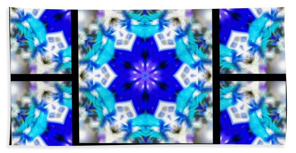 Sacredlife Mandalas Hand Towel featuring the digital art Water Birth Page by Derek Gedney