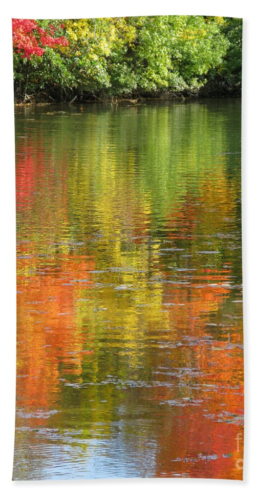 Autumn Bath Towel featuring the photograph Water Colors by Ann Horn