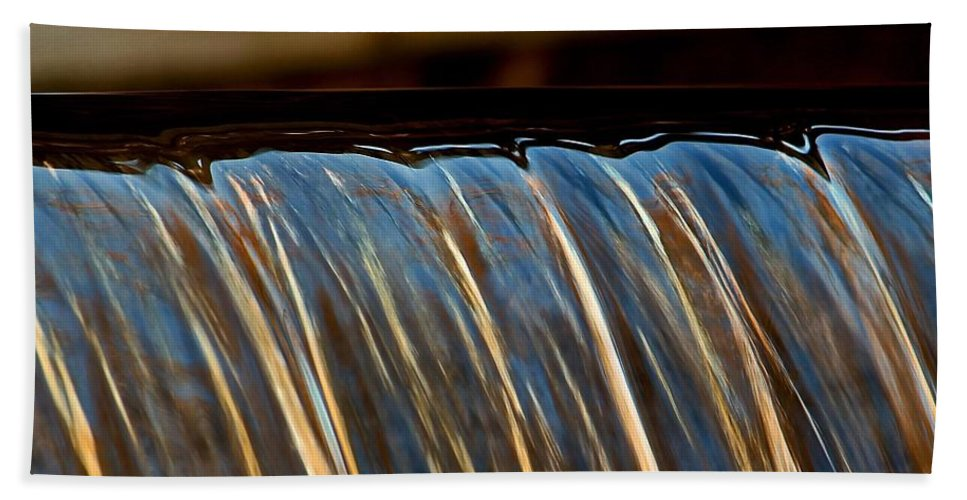Moore State Park Hand Towel featuring the photograph Water Falls Edge 3 by Michael Saunders