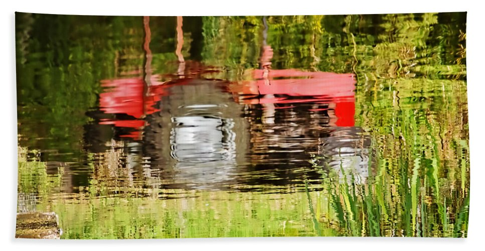 Tractor Hand Towel featuring the photograph Water Gardening by Susie Peek