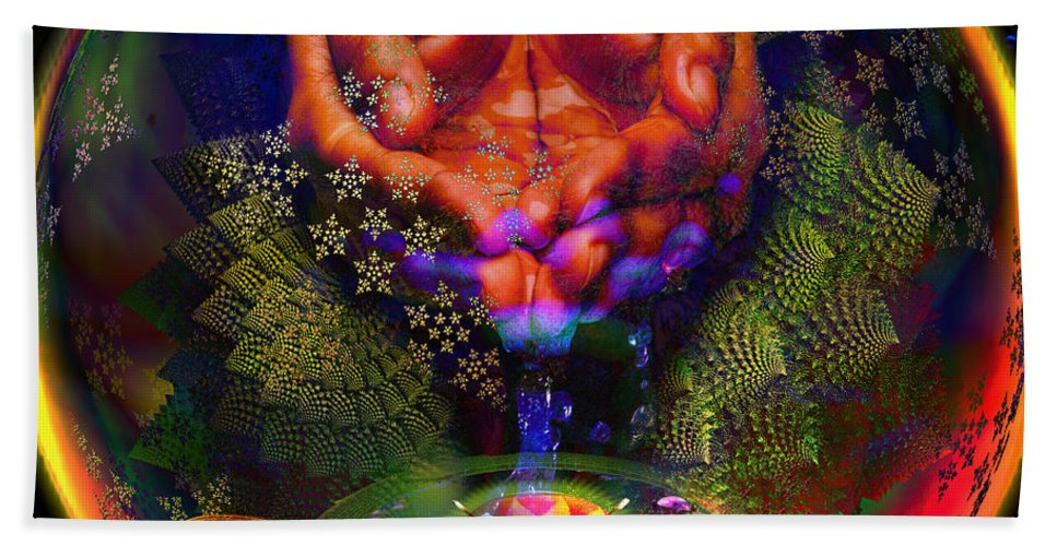 Safe Drinking Water Bath Sheet featuring the digital art Water Is The Spice by Joseph Mosley