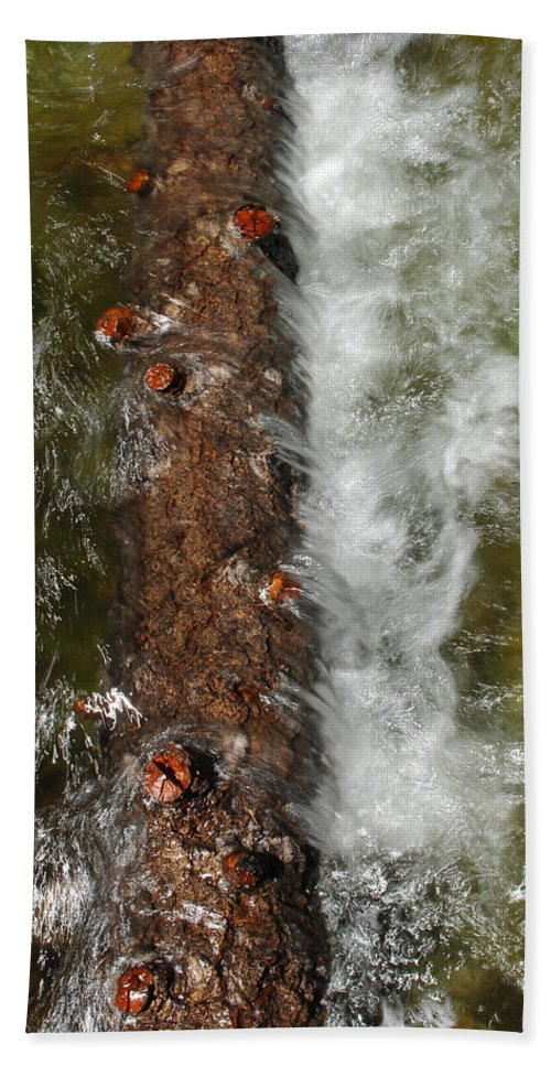 Water Bath Sheet featuring the photograph Water Logged by Donna Blackhall