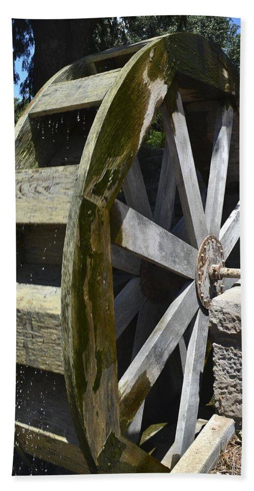 Fredericksburg Bath Sheet featuring the photograph Water Mill by Allen Sheffield