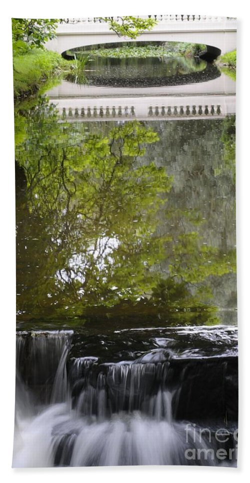 Water Bath Sheet featuring the photograph Water Reflection by Jenny Potter
