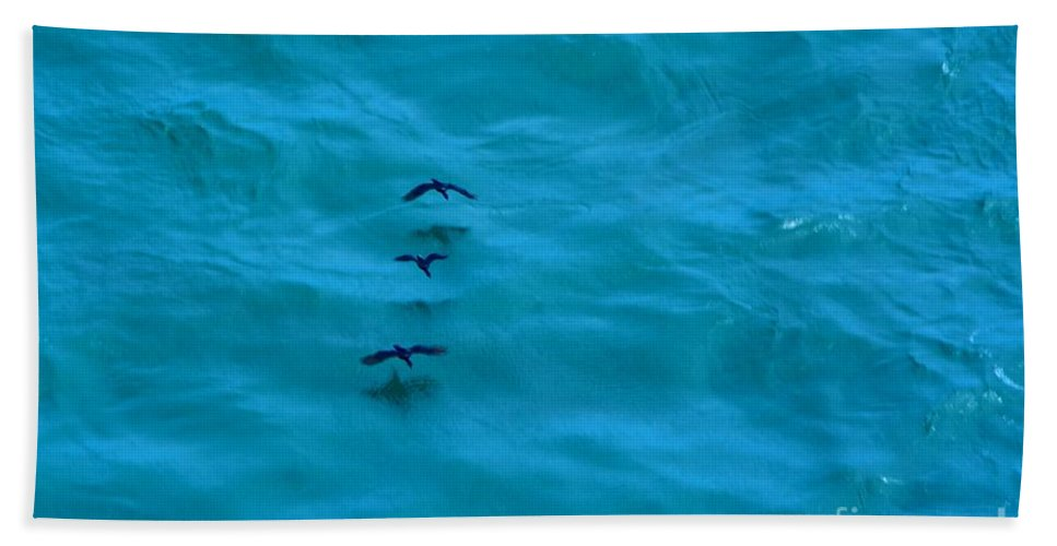 Hand Towel featuring the photograph Water Skimmers by Beth Sanders