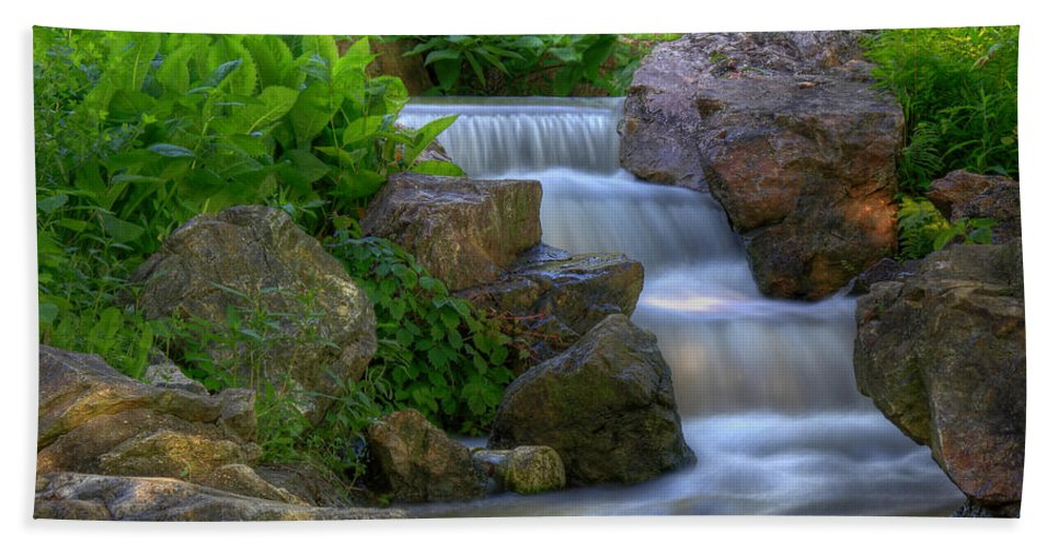 Creek Hand Towel featuring the photograph Water Slide by John Absher